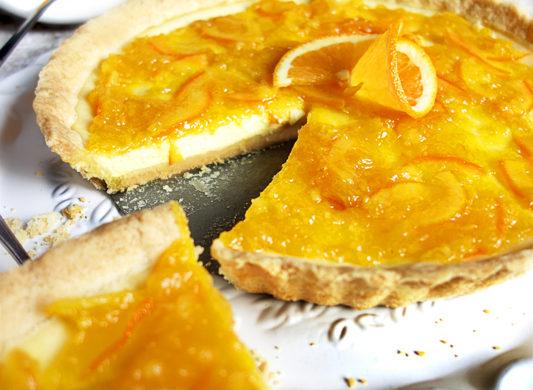 Orangentarte mit Buttermilch