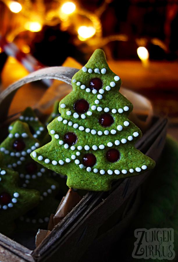 Matcha-Tannenbäume Spitzbuben