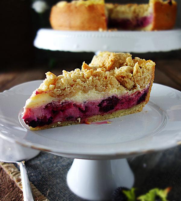Puddingkuchen mit Beeren