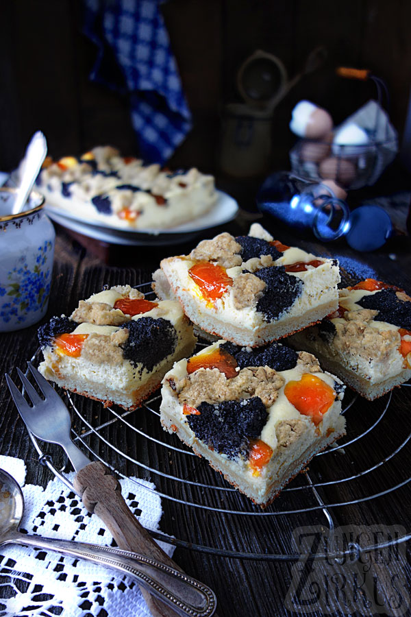 Golatschen Blechkuchen Mit Quark Und Mohn Zungenzirkus