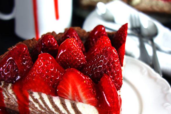 Zebrakuchen / drip cake