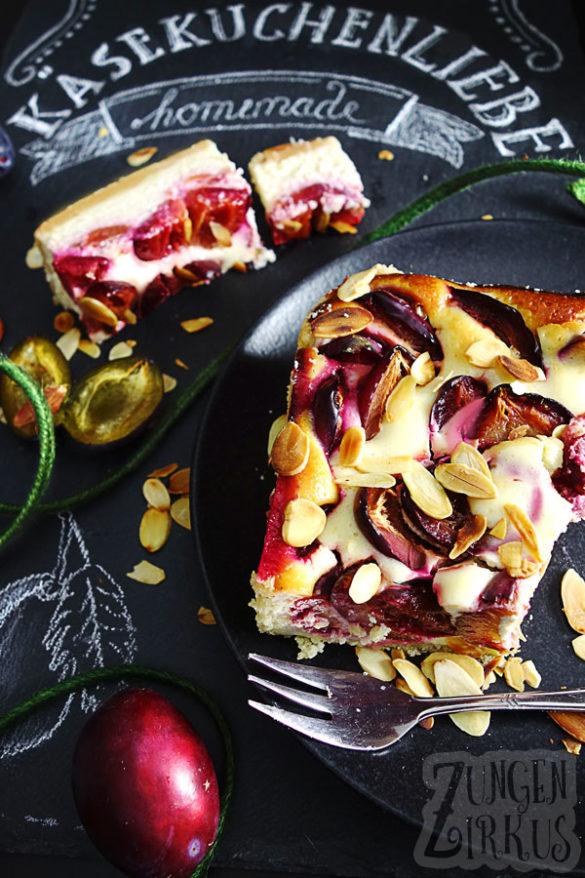 Marzipankäsekuchen - Zwetschgenkuchen