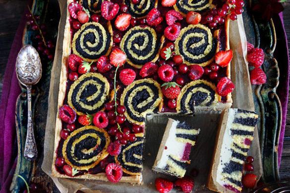 Pfannkuchen-Tarte Mohnkuchen