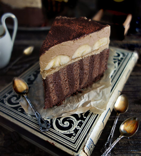 Cappuccino-Torte mit Kaffee