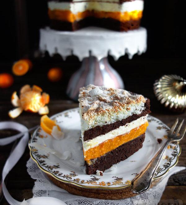 Kokosmakronen-Torte Kokosmakrone trifft Mandarinentorte
