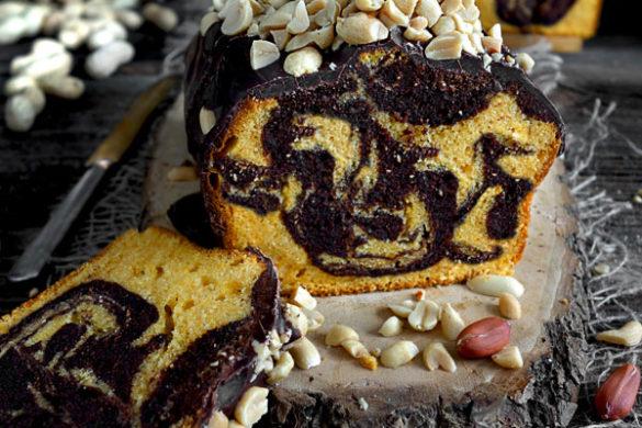 Erdnusskuchen Marmorkuchen Erdnussbutter