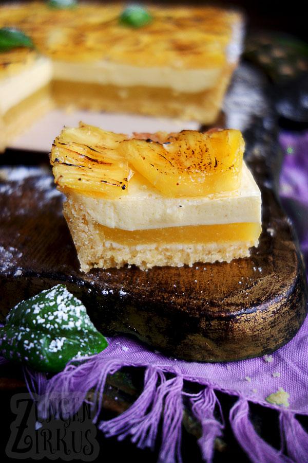 Tarte mit Basilikum und Ananas