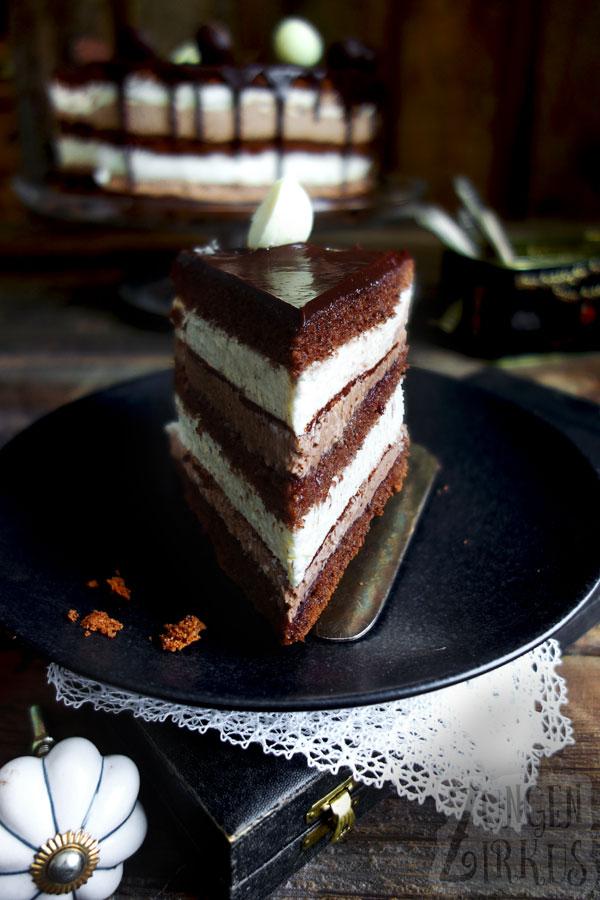 Vanilletorte mit Schokolade