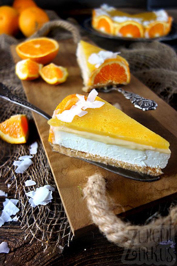 Cheesecake mit Orange und Kokos