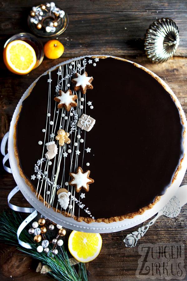 Weihnachts-Tarte oder Weihnachtskuchen