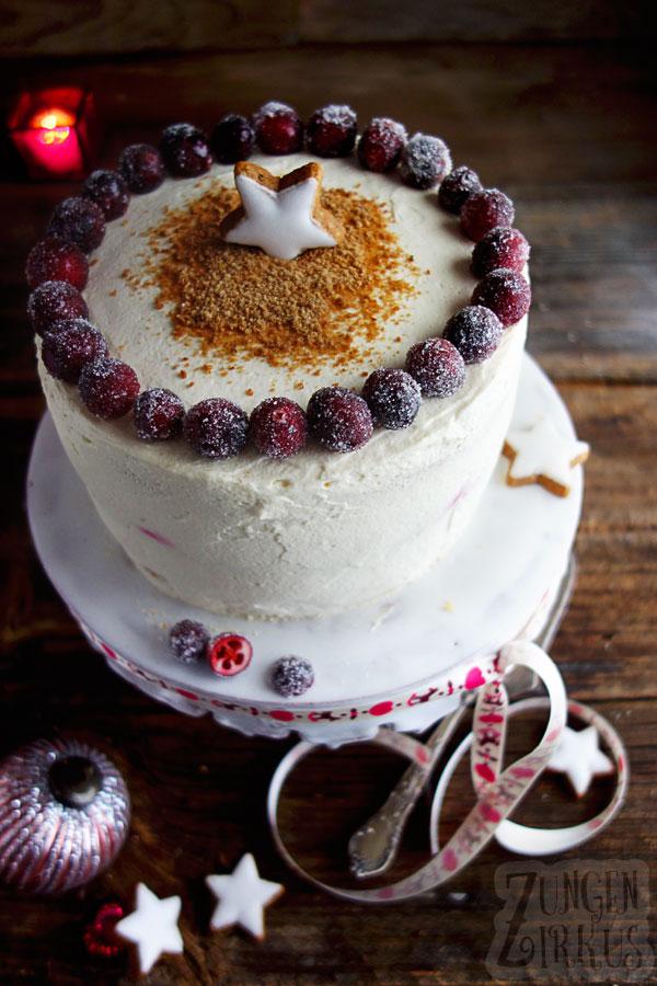 Weihnachtstorte Christmascake
